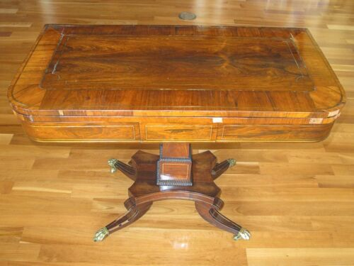 Antique Regency Rosewood Card Table circa 1820 to 1830