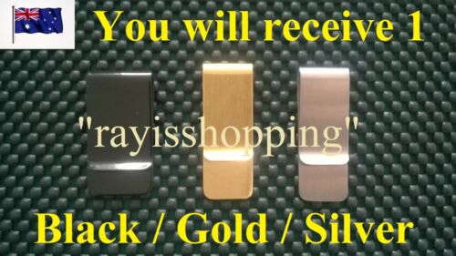 Wallet Note Money Clip Holder Credit Cards ID License Stylish Safe 3 Colours