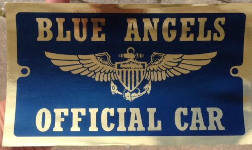 """Vintage US Navy Blue Angels Official Car VIP Sticker  5 1/2"""" x 9 1/2""""Navy - 66533"""
