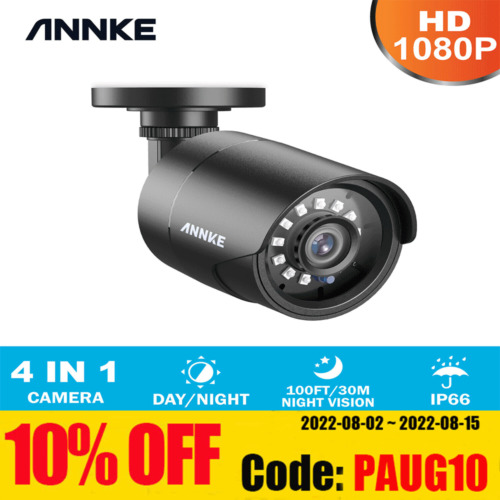 ANNKE 1x 3000TVL Outdoor Security Camera 1080P TVI Bullet 2MP Home Night Vision