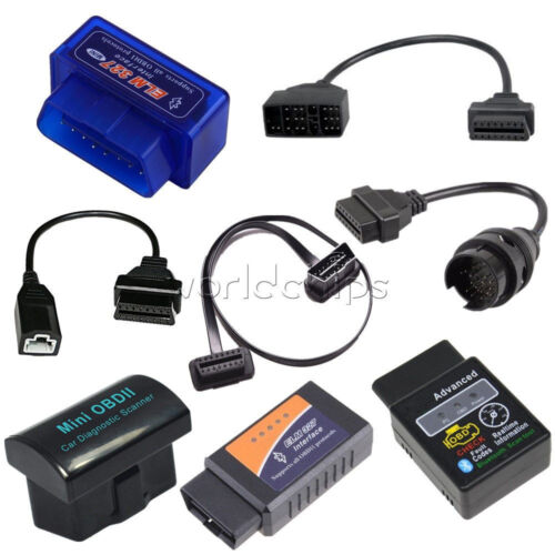 ELM327 OBD2 Bluetooth Wireless Scanner Car Diagnostic + 3Pin 16 22 38 Pin  Cable
