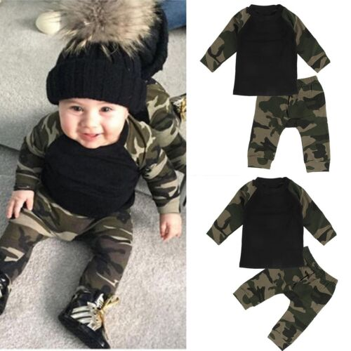Cute Newborn Toddler Infant Baby Boy Clothes T-shirt Tops+Pants Outfits 2pcs Set