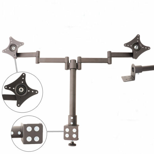 Monitor Stand - 2 Arm Holds (for Dual Hd Led, Two LCD Screen, TV Desk Mount Brac