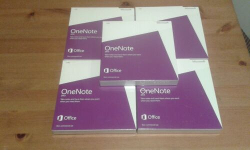 Microsoft One Note Non Commercial 2013 DVD x 5 pcs (factory sealed)