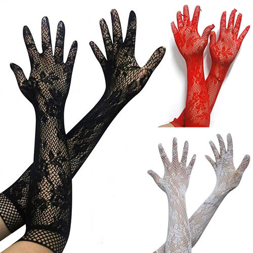 Women Sexy Stretch Lace Opera Elbow Long Length Evening Party Prom Gloves Worthy