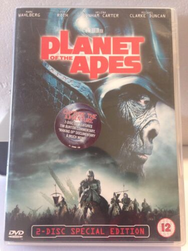 PLANET OF THE APES - MARK WAHLBERG (2 DISC SET) (R2 - LIKE NEW) - DVD #196