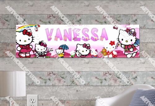 Personalized/Customized Hello Kitty #1 Name Poster Wall Art Decoration Banner