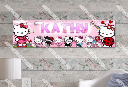 Personalized/Customized Hello Kitty #2 Name Poster Wall Art Decoration Banner