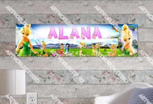 Personalized/Customized Tinkerbell Name Poster Wall Art Decoration Banner