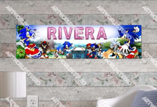 Personalized/Customized Sonic the Hedgehog Name Poster Wall Decoration Banner