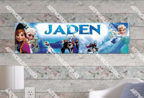 Personalized/Customized Frozen Elsa #2 Name Poster Wall Art Decoration Banner