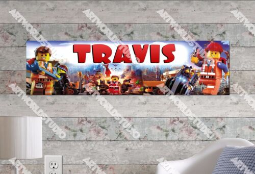 Personalized/Customized Lego Movie #2 Name Poster Wall Art Decoration Banner
