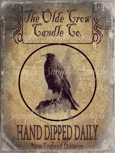 Primitive Old Crow Candle Co. Print 8x10