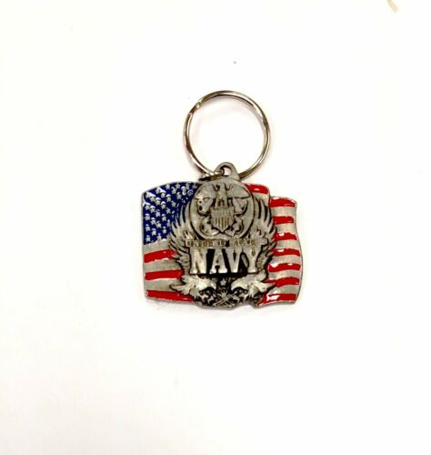 Navy Heavy Duty Metal Pewter Keychain United States US MilitaryOther Militaria - 135