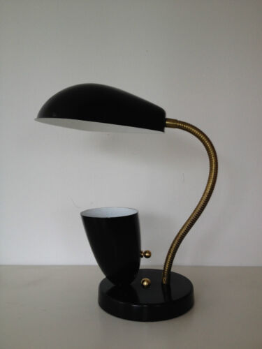 BLACK Stilnovo ARTELUCE Eames GRETA GROSSMAN Cobra TABLE LAMP Mid Century Deco