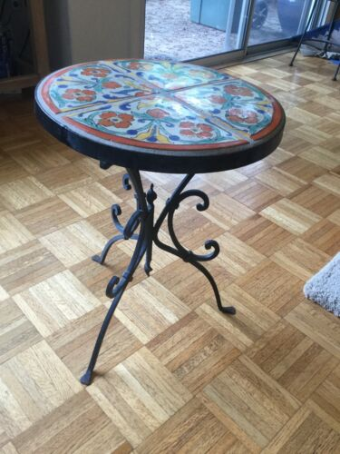 beautiful Wrought Iron and California Tile Table