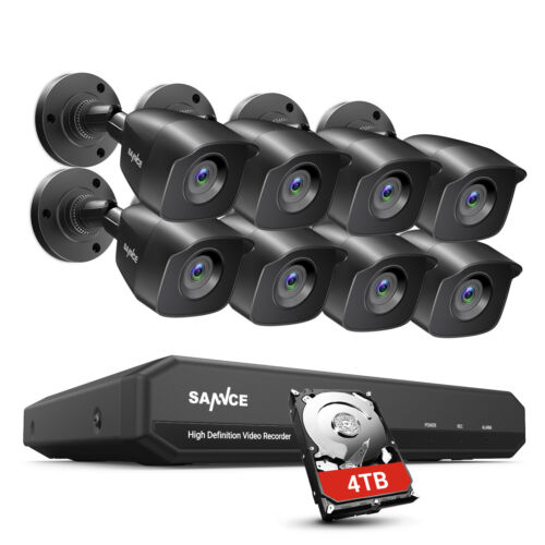 SANNCE 5IN1 1080P HDMI 8CH / 4CH DVR CCTV Security Camera System Smart Playback