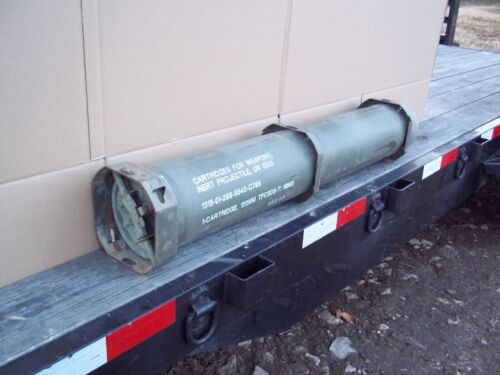 MILITARY SURPLUS 120MM AMMO TUBE CAN BURY GUNS AMO RIFLE MONEY VALUABLES US ARMYBoxes & Chests - 165616