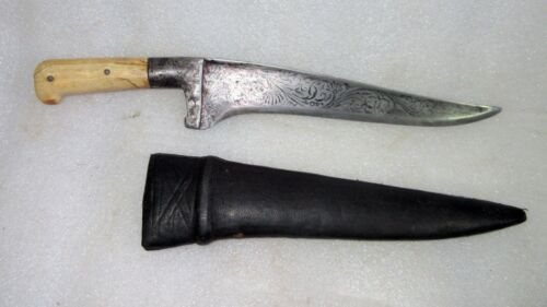 Antique Rare Collectible Indian Steel Dagger with Cover Pesh Kabz I**r Knife