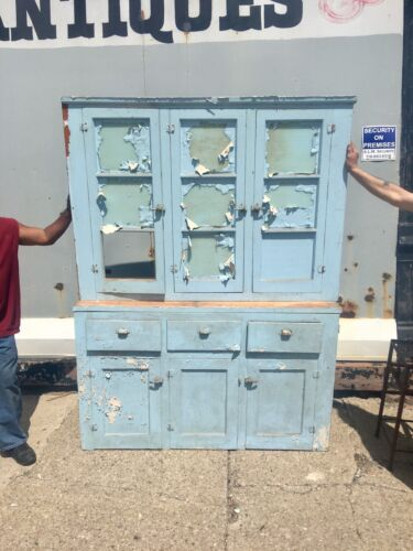 Rare Old 1920's Kitchen Cabinet Old Paint For Restoration