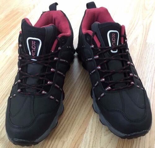 Mens Black Walking Shoe Boot Style Trainer Hiking Light Trekking Trail Grip Size