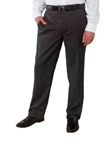 NWT Kirkland Mens Wool Flat Front Dress Slacks Pants -Charcoal Gray Size 36 x 30