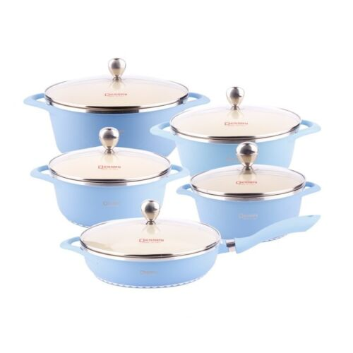Dessini Cookware Set of 10 (Blue) <br/> Paypal Accepted✔Same Business Day*Dispatch✔Powerseller✔