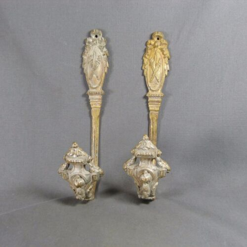 Pair of Antique French 2nd Empire Style Massive Ormulu Curtain Tiebacks Bronze