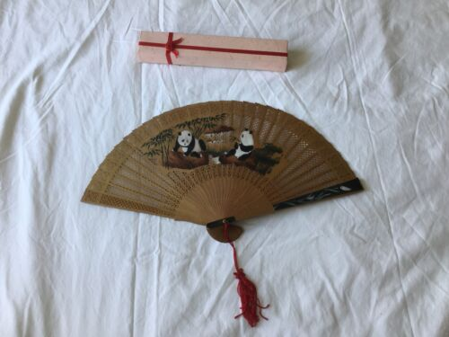 Chinese Sandlwood Wood Carved Carving Brise Fan