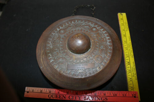 vintage  CHINA,SOUTH ASIA MINDANAO BRASS TEMPLE RITUAL GONG,Tawak-Tawak