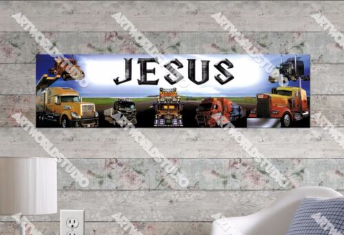Personalized/Customized Trucks Name Poster Wall Art Decoration Banner