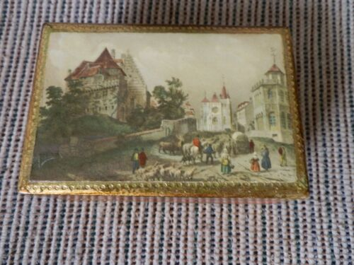 HAND MADE FLORENTIA WOODEN TRINKET BOX MADE IN ITALY NICE PIECE !