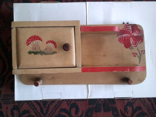 Antique  mini wall shelf   , hand painted