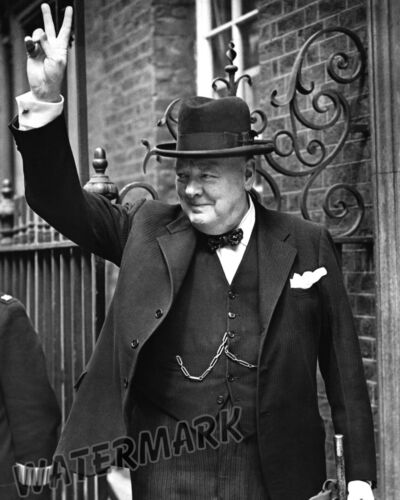Photograph of  Prime Minister Sir Winston Churchill Year 1943   8x10
