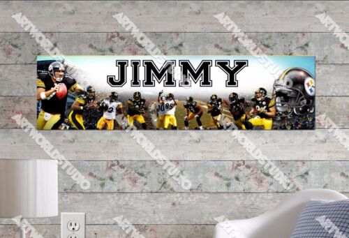 Personalized/Customized Pittsburgh Steelers Name Poster Wall Decoration Banner