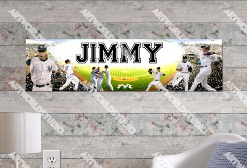 Personalized/Customized New York Yankees Name Poster Wall Art Decoration Banner