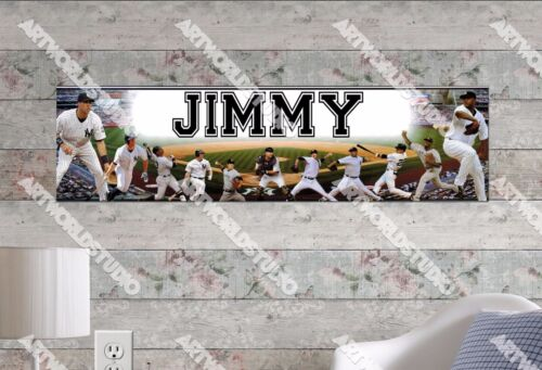 Personalized/Customized New York Yankees #2 Name Poster Wall Decoration Banner