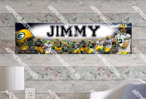 Personalized/Customized Green Bay Packers Name Poster Wall Art Decoration Banner