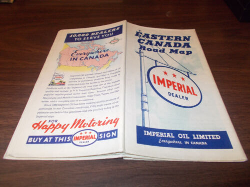 1938 Imperial Oil (Esso) Eastern Canada Vintage Road Map