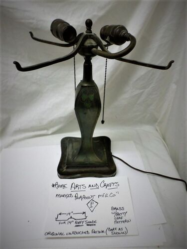 Antique Pairpoint Arts and Crafts Very Rare 3088 Lamp Base for Puffy Shade