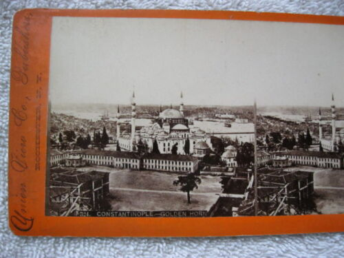 1800s CONSTANTINOPLE, GOLDEN HORN STEREOVIEW