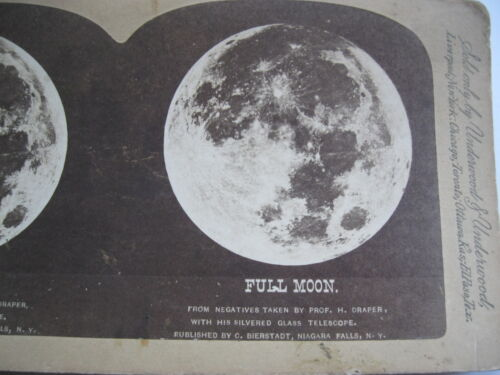 1800's DRAPERS VIEW OF FULL MOON, STEREOVIEW