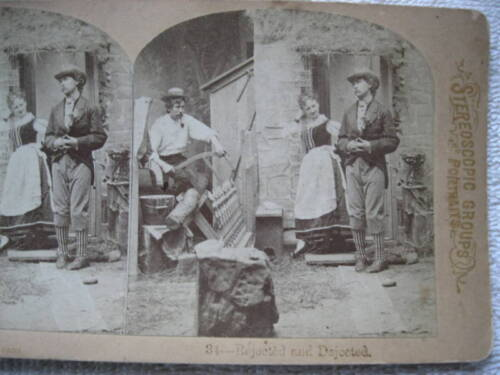 """1889 """"REJECTED AND DEJECTED"""" STEREOVIEW"""