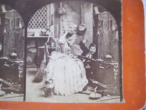 1860's THE MISCHIEVOUS BOY STEREOVIEW