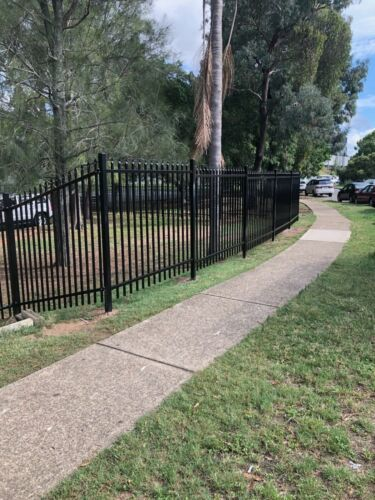 SECURITY FENCE PANELS SAVE $$$ 2.4 x 2.1 high  <br/> PANELS 2.4 X 2.1 HIGH POWDER COATED BLACK