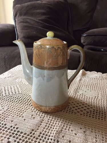 Hand Painted Gold & Cream Japanese Teapot