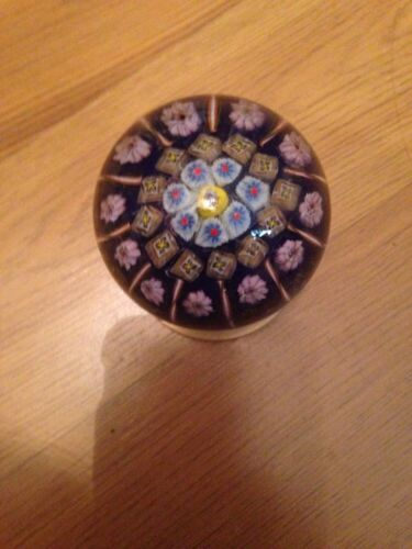 RARE VINTAGE 1960 STRATHEARN MILLEFIORI GLASS PAPERWEIGHT DOOR KNOB HANDLE
