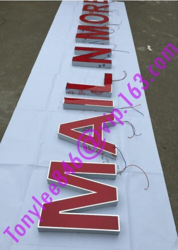 Custom Front Light stainless steel Sign,building Signs,Channel letter led sign