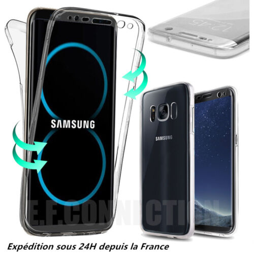Coque Housse 360 Full Silicone Pour Samsung S6 S7 S8 Plus S9 S10 S20 Note 8 9 10