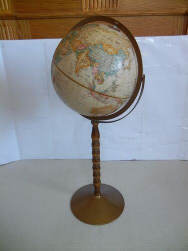 "Vintage >>> 12"" DIAMETER WORLD CLASSIC SERIES GLOBE FLOOR STAND"